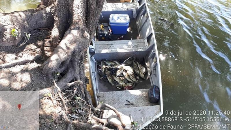 Fiscalização desarticula acampamentos de Pescadores em Luciara.